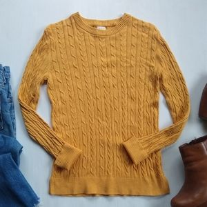 A New Day • yellow cableknit Crewneck Sweater